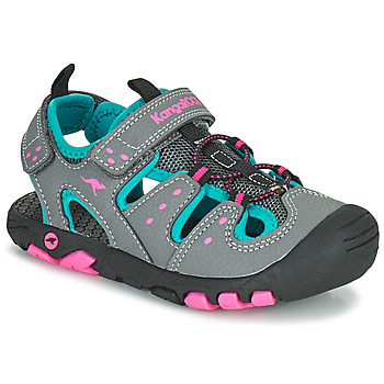 Chaussures Fille Sandales et Nu-pieds Kangaroos K-TREK Gris / Bleu