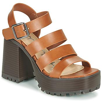 Chaussures Femme Sandales et Nu-pieds Emmshu DITA Cognac