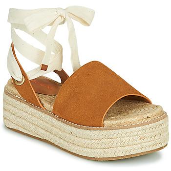 Chaussures Femme Sandales et Nu-pieds Emmshu SEARA Cognac