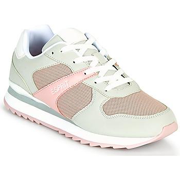 Chaussures Femme Baskets basses Esprit AMBRO Vert 'eau / Rose