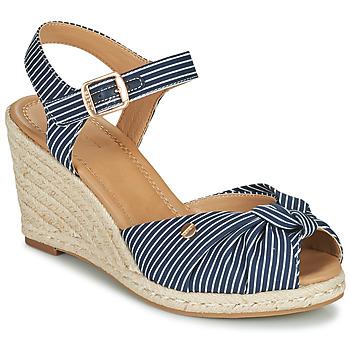 Chaussures Femme Sandales et Nu-pieds Esprit ELIN Bleu / Blanc