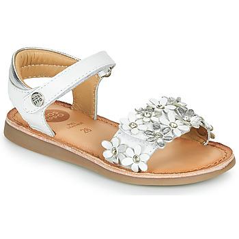 Chaussures Fille Sandales et Nu-pieds Gioseppo MAZARA Blanc / Argenté