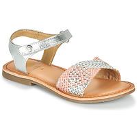 Chaussures Fille Sandales et Nu-pieds Gioseppo QUINCY Argenté / Rose