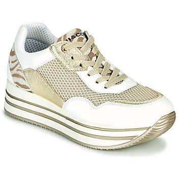 Chaussures Femme Baskets basses IgI&CO ALMINTA Blanc / Doré