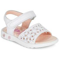 Chaussures Fille Sandales et Nu-pieds Pablosky DROSSI Blanc / Rose