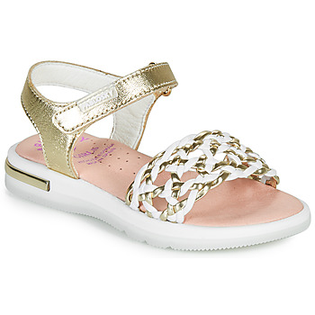 Chaussures Fille Sandales et Nu-pieds Pablosky DANIE Doré / Blanc