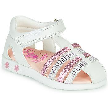 Chaussures Fille Sandales et Nu-pieds Pablosky ELLA Blanc / Rose