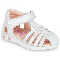 Chaussures Fille Sandales et Nu-pieds Pablosky TONNI Blanc / Rose