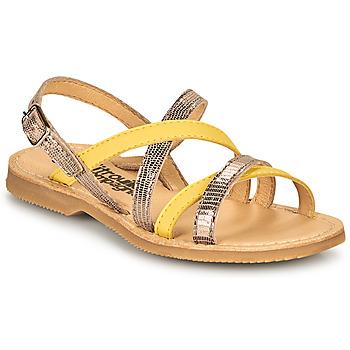 Chaussures Fille Sandales et Nu-pieds Citrouille et Compagnie GENTOU Jaune/Argenté