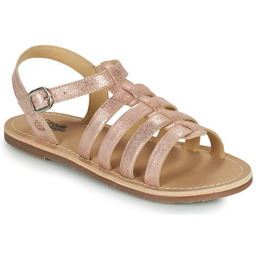Chaussures Fille Sandales et Nu-pieds Citrouille et Compagnie MAYANA Rose / or