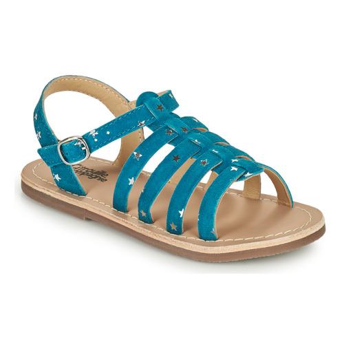 Chaussures Fille Sandales et Nu-pieds Citrouille et Compagnie MAYANA Bleu