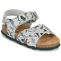 Chaussures Garçon Sandales et Nu-pieds Citrouille et Compagnie OMAYO Gris