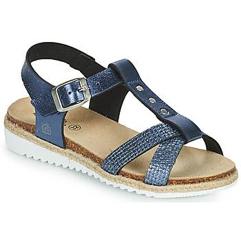 Chaussures Fille Sandales et Nu-pieds Citrouille et Compagnie OMALA Bleu