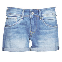 Vêtements Femme Shorts / Bermudas Pepe jeans SIOUXIE Bleu Medium HH1