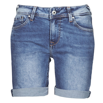 Vêtements Femme Shorts / Bermudas Pepe jeans POPPY Bleu Medium HG2