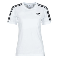Vêtements Femme T-shirts manches courtes adidas Originals 3 STRIPES TEE Blanc