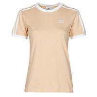 Vêtements Femme T-shirts manches courtes adidas Originals 3 STRIPES TEE Orange