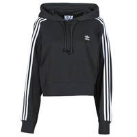 Vêtements Femme Sweats adidas Originals SHORT HOODIE Noir