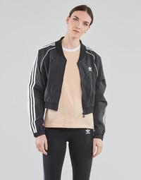 Vêtements Femme Vestes de survêtement adidas Originals SHORT TRACKTOP Noir