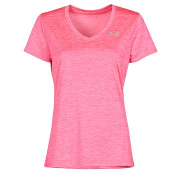 Vêtements Femme T-shirts manches courtes Under Armour TECH SSV Rose
