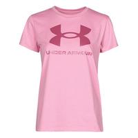 Vêtements Femme T-shirts manches courtes Under Armour LIVE SPORTSTYLE GRAPHIC SSC Rose