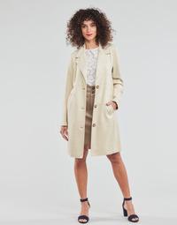Vêtements Femme Manteaux Esprit SUEDE COAT Beige