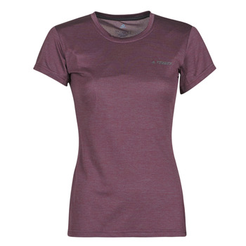 Vêtements Femme T-shirts manches courtes adidas Performance W Tivid Tee Violet