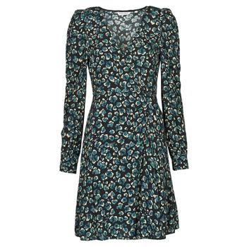 Vêtements Femme Robes courtes Naf Naf LEO R1 Léo Noir / Vert