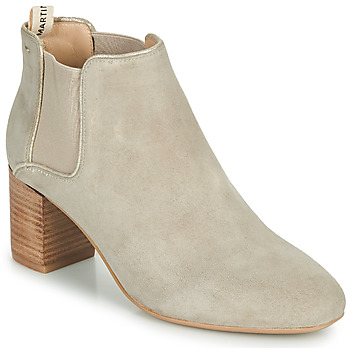 Chaussures Fille Bottes ville JB Martin 3ALIXIA Blanc
