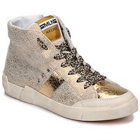 Chaussures Femme Baskets montantes Meline NK1384 Doré