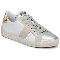 Chaussures Femme Baskets basses Meline NK1381 Blanc / Beige