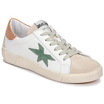 Chaussures Femme Baskets basses Meline NK1364 Blanc / Vert