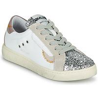 Chaussures Femme Baskets basses Meline CAR139 Blanc / Glitter