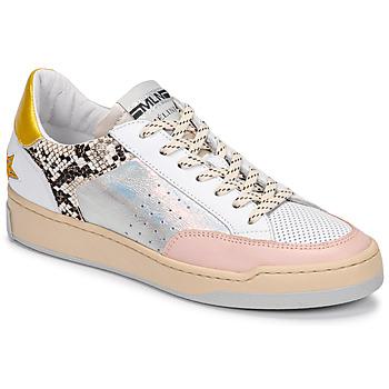 Chaussures Femme Baskets basses Meline BZ180 Blanc / Rose