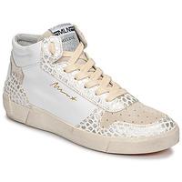 Chaussures Femme Baskets montantes Meline NK1409 Blanc / Croco