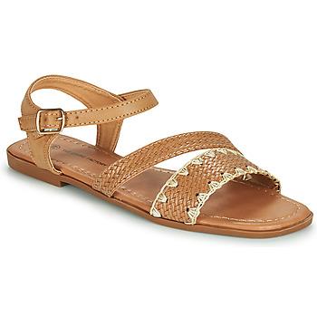 Chaussures Femme Sandales et Nu-pieds The Divine Factory TX4339 Camel