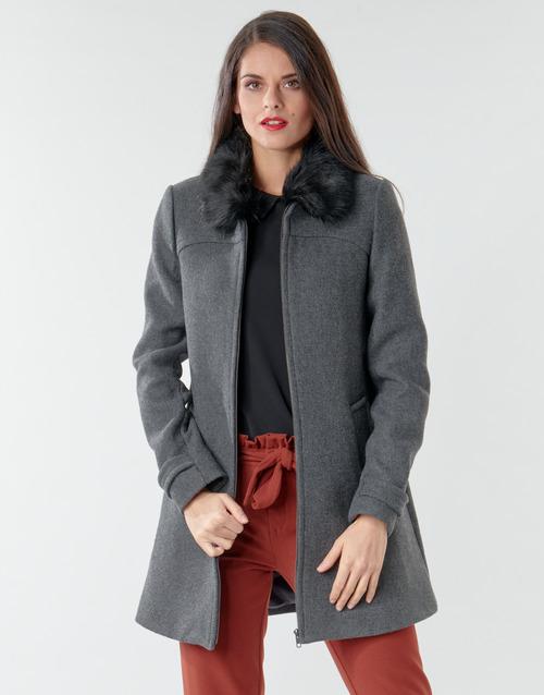 Vêtements Femme Manteaux Naf Naf AZAZOU M1 Gris