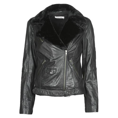 Vêtements Femme Vestes en cuir / synthétiques Naf Naf CILL Noir