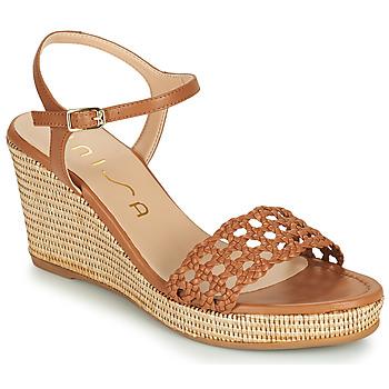 Chaussures Femme Sandales et Nu-pieds Unisa LOBI Camel