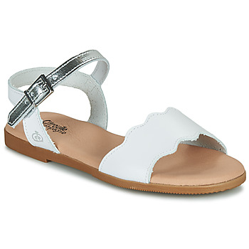 Chaussures Fille Sandales et Nu-pieds Citrouille et Compagnie OBILO Blanc