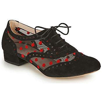 Chaussures Femme Richelieu Fericelli ABIAJE Noir / rouge