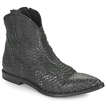 Chaussures Femme Boots Mimmu PYTHON INTAG Noir