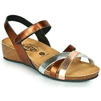 Chaussures Femme Sandales et Nu-pieds Plakton NOTE Cuivre / Rose / Argenté