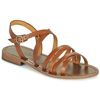 Chaussures Femme Sandales et Nu-pieds Dream in Green OBELLA Tan