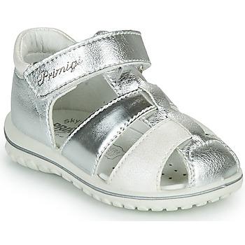 Chaussures Fille Sandales et Nu-pieds Primigi GABBY Argenté / Blanc