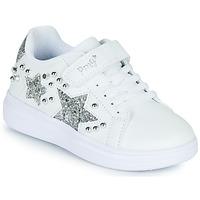 Chaussures Fille Baskets basses Primigi NOLLA Blanc / Argente