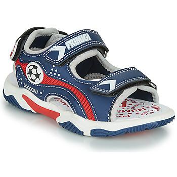 Chaussures Garçon Sandales et Nu-pieds Primigi MATHIS Marine / Rouge