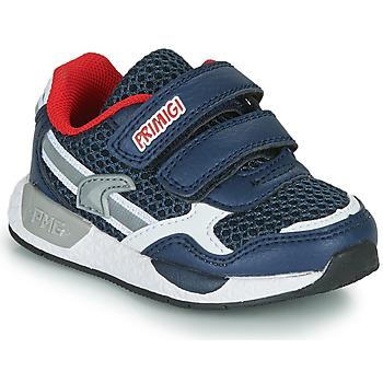 Chaussures Garçon Baskets basses Primigi PETIT Marine / Rouge