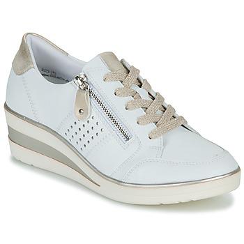 Chaussures Femme Baskets basses Remonte Dorndorf DORA Blanc / Doré