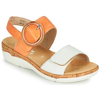 Chaussures Femme Sandales et Nu-pieds Remonte Dorndorf ORAN Orange / Blanc